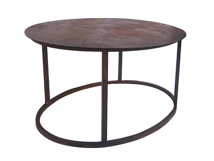ROMAN CARGO oval coffee table side